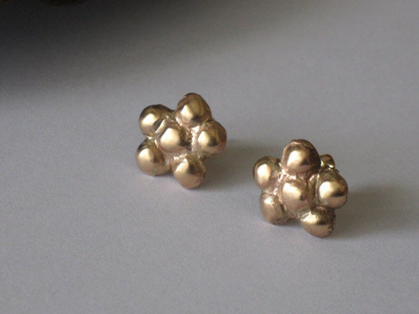 Gold Filled Small Flower Stud Earrings