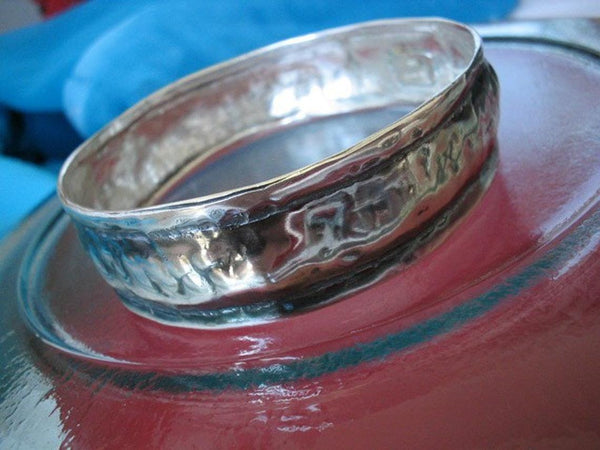 Sterling Silver Bangle for Men