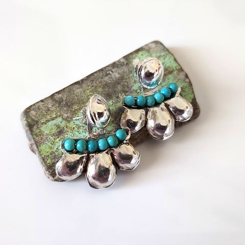 Turquoise Sterling Ear Cuffs