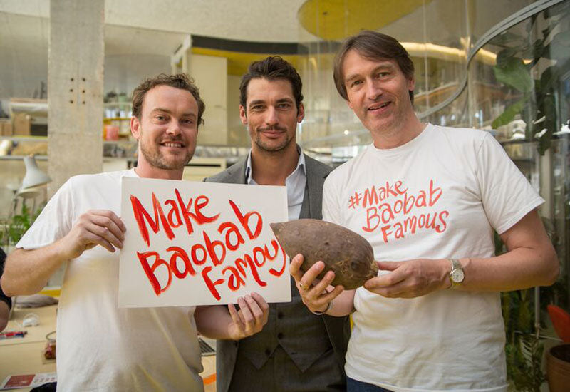 Aduna Founders Andrew Hunt & Nick Salter with David Gandy #MakeBaobabFamous