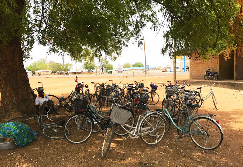 Bicycles outside the Aduna processing centre