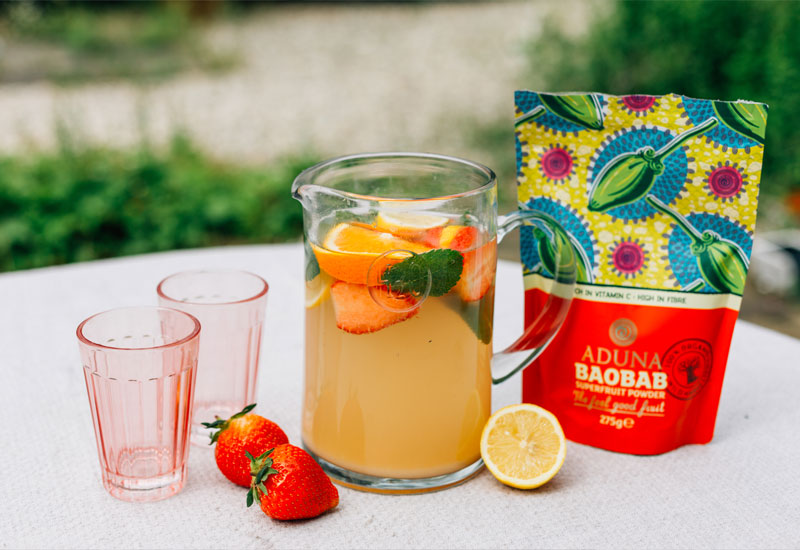 Aduna Baobab Summer Fruits Spritzer Recipe