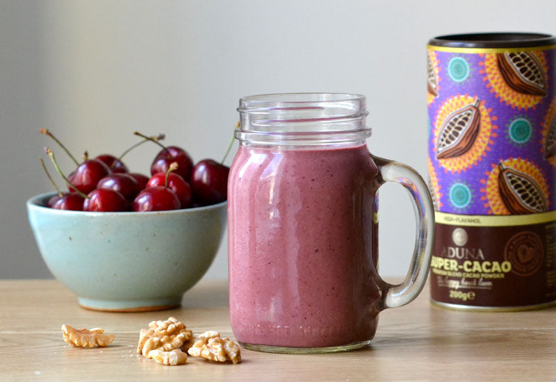 Cherry, Walnut & Super-Cacao Smoothie