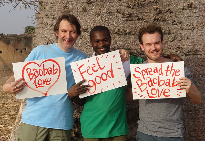 Aduna Co-founders Nick & Andrew with Julius, Director of Aduna Ghana