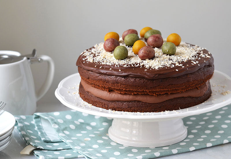 Healthy Chocolate Easter Cake