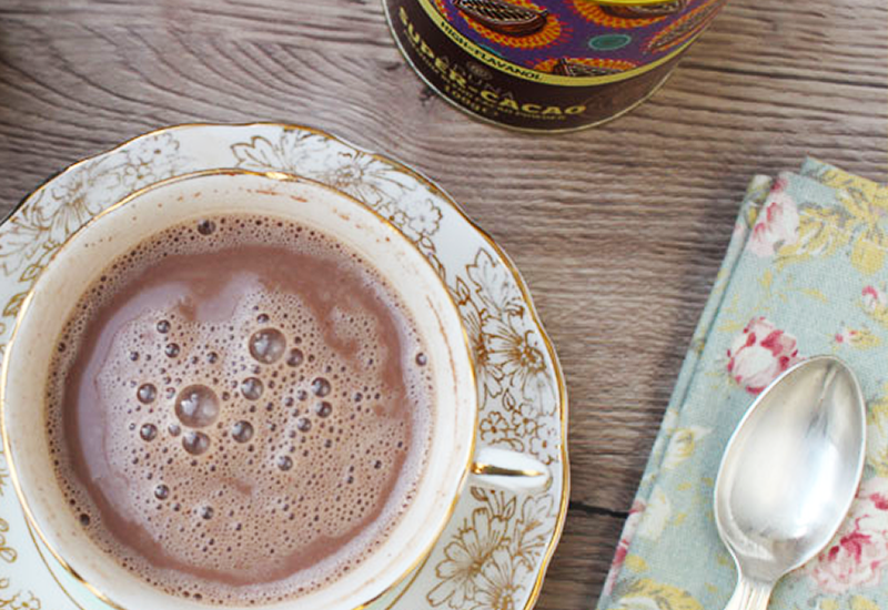 Hot Chocolate made with Aduna High Flavanol Super-Cacao Powder