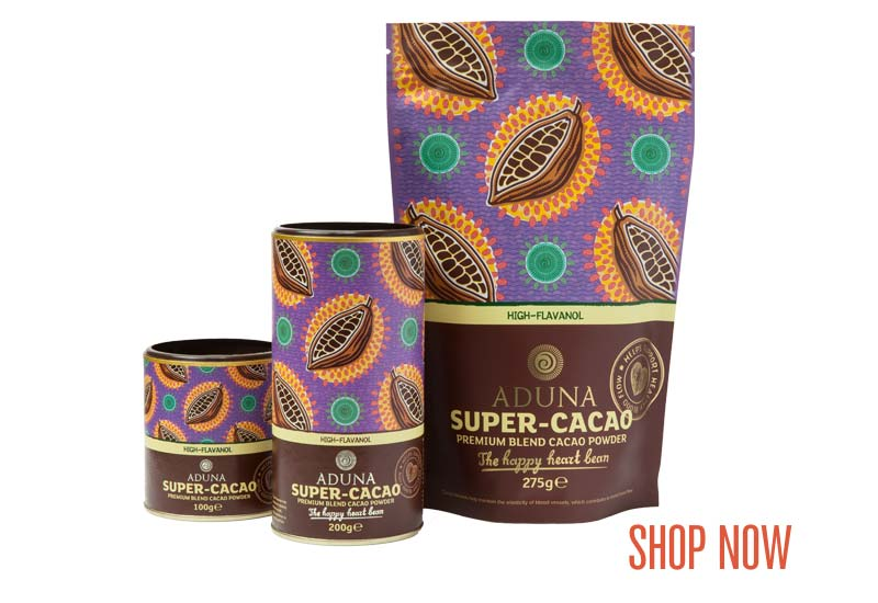 Aduna Super-Cacao Range - Shop Now