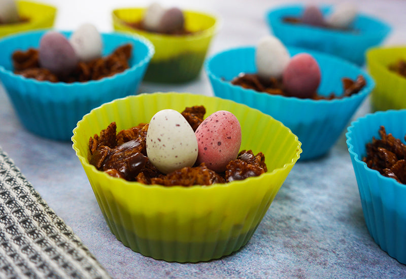 Super-Cacao Easter Nests