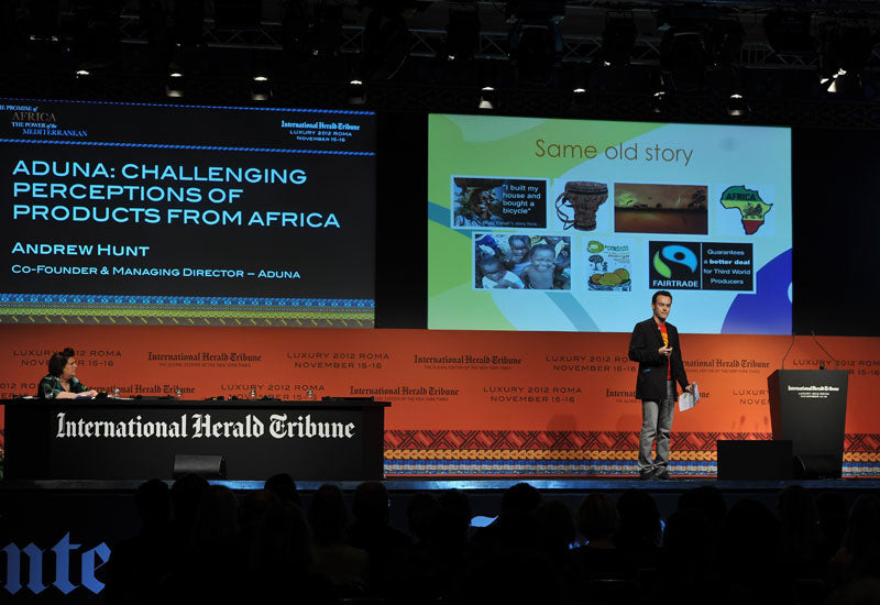 Aduna Co-Founder Andrew Hunt speaking at IHT Luxury Conference in Africa