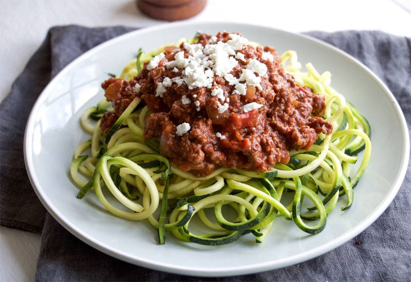 Cacao Bolognese Courgetti