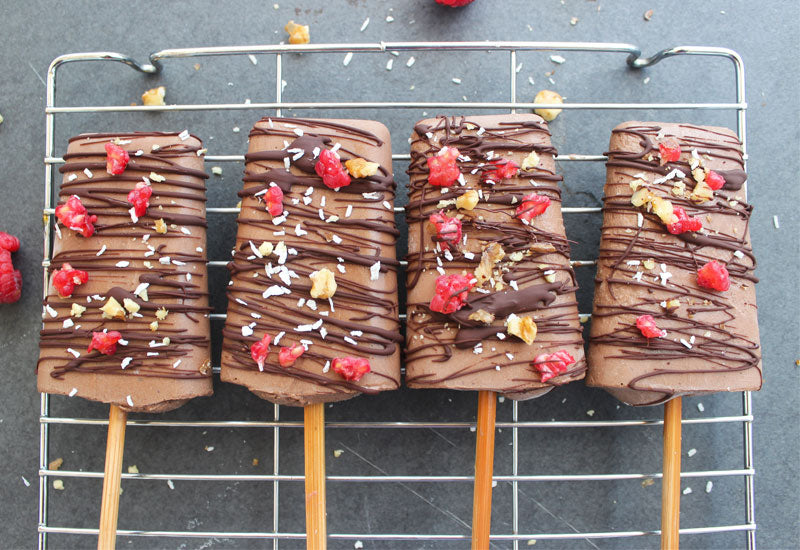 Healthy Chocolate Lollies