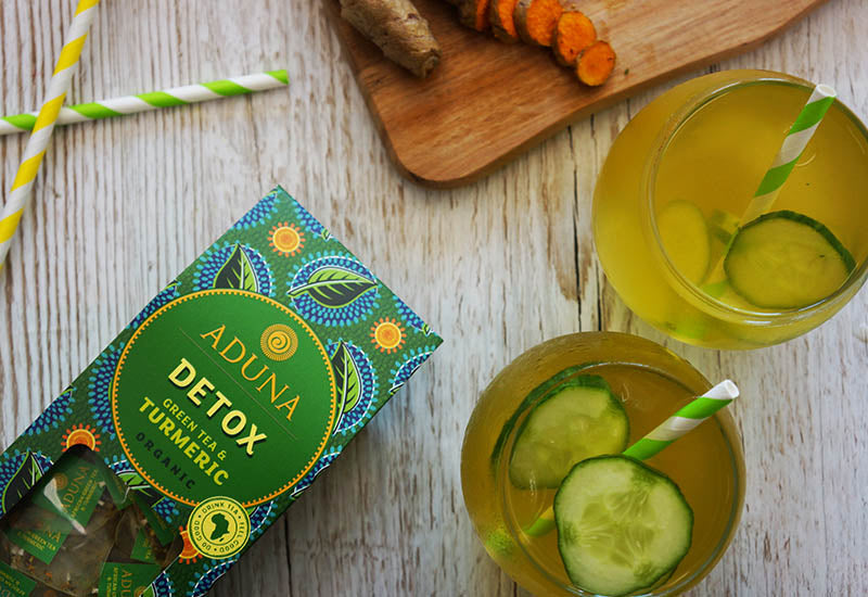 Green Tea, Turmeric & Cucumber Iced Tea