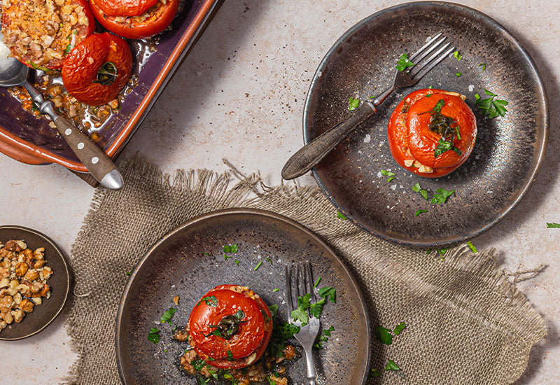 Fonio Stuffed Tomatoes