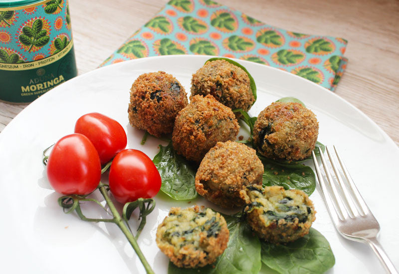 Spinach, Moringa and Goat's cheese Croquetas