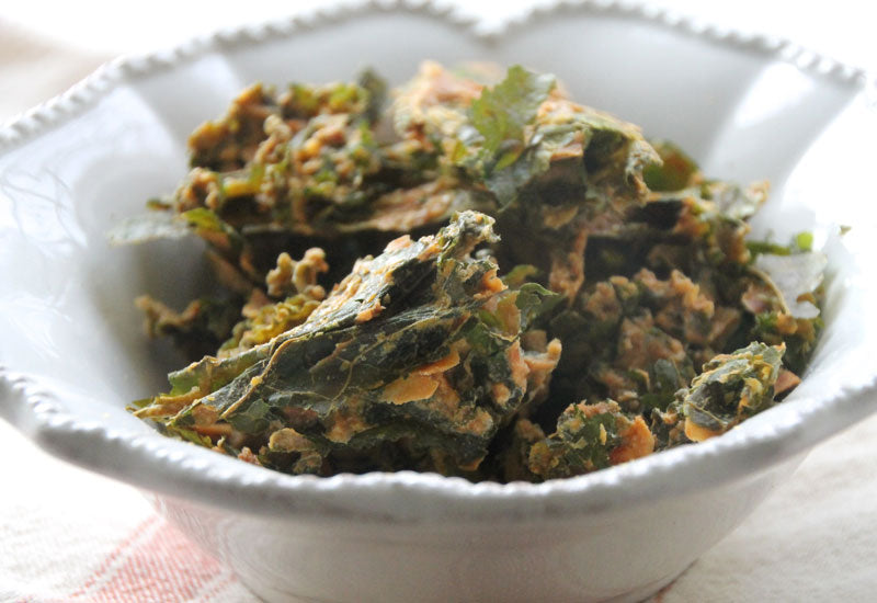 Cheesy Moringa Kale Chips