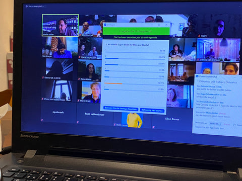 Zoom Video conference for online wine tasting