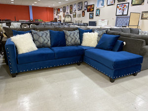 Melon Sapphire NEW 2pc Sectional 104x77x37