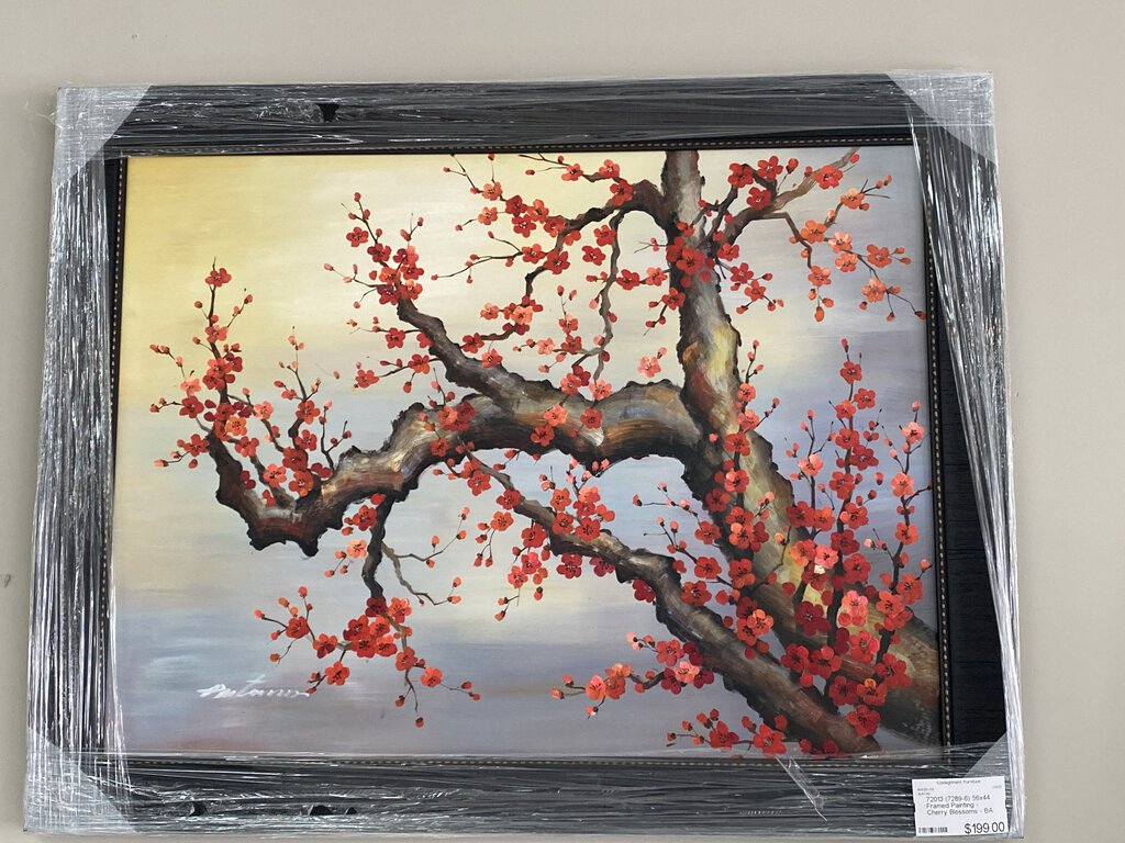 72013 (7289-6) 56x44 Framed Painting - Cherry Blossoms