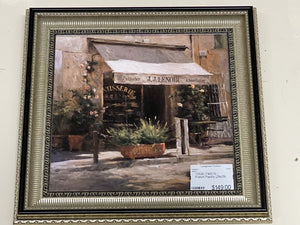 72526 (7492-5) 29x29 Framed Artwork - French Pastry - REDUCED
