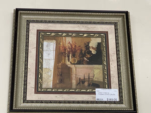 72527 (7492-6) 29x29 Framed Artwork - Fireplace w/Urn - REDUCED