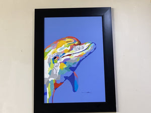72533 (7493-1) Framed 32x44 Painting - Dolphin