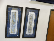 Load image into Gallery viewer, 72597 (7500-7) Framed Pair of Sheila Cooper Hand Made Paper Designs 16x34 REDUCED