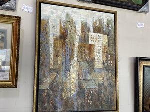 72603 (7500-13) Framed 44x54 Painting - Streetview REDUCED