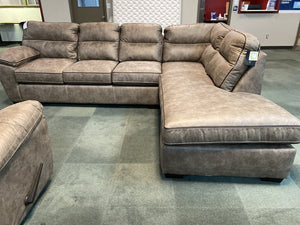 Wesley Sand NEW 2pc Sectional 119x89x39 (6010/20)