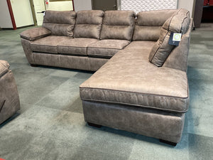 Wesley Sand NEW 2pc Sectional 118x93x39
