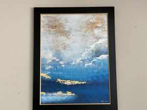 72546 (7493-14) 56x44 Framed Painting - Abstract