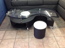 "Load image into Gallery viewer, Miami ""S"" Coffee Table w/2 Stools & Storage 53x26x18"