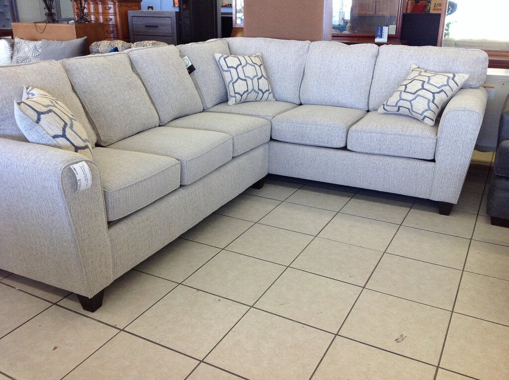 Uptown Ecru NEW 2pc Sectional 91x115
