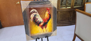 72948 (7578-10) 26x30 Framed Painting, Rooster