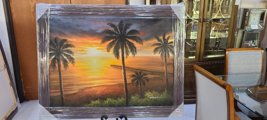 72959 (7579-6) 56x44 Framed Painting - Palm Trees