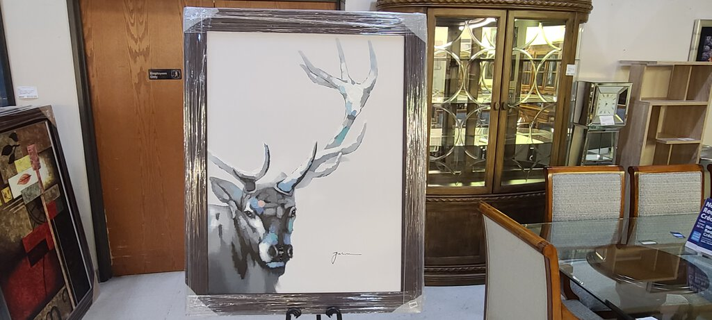 72954 (7579-1) 44x56 Framed Painting - Stag