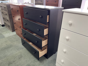 Promo 21 NEW Black 4 Drawer Chest 27x15x39
