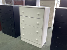 Load image into Gallery viewer, Promo 21 NEW White 4 Drawer Chest 27x15x39