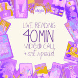Live Reading - 40 min video call + art work