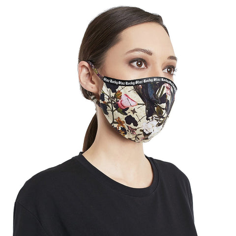Rocky Star Signature Print Mask With Pouch