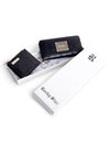 Black leather monogram wallet set
