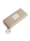 Beige leather monogram wallet set
