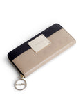 Dual tone wallet set- black and beige