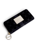 All Black velvet leather monogram wallet Set