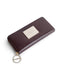 Brown leather monogram wallet set