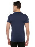 Look dapper in this RS by Rocky Star Tshirt. Tailored in cotton fabric, it is light weight and will keep you at ease all day long. It has a rubber print and round neck that renders it smart while the short sleeves add to the design. Further, the use of a good quality fabric ensures maximum breathability and utmost comfort.