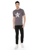 Look dapper in this RS by Rocky Star Tshirt. Tailored in cotton fabric, it is light weight and will keep you at ease all day long. It has silver foil print and round neck that renders it smart while the short sleeves add to the design. Further, the use of a good quality fabric ensures maximum breathability and utmost comfort.