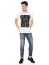 Give your everyday regular look a stylish makeover with this graphic Tshirt from RS by Rocky Star. Made from good quality fabric, this t-shirt come in perfect fit and will be comfortable all day long. This printed graphic t-shirt features short sleeves that lend it a smart appeal giving you an elegant and chic look.