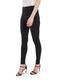 These black stretch slim pants features mid rise, regular length hem. These homecoming pants will rule!