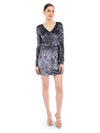 Rocky Star Printed Velvet Wraparound Dress