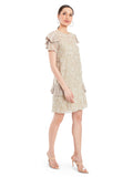 Rocky Star Embroidered Dress With Frill Detailing